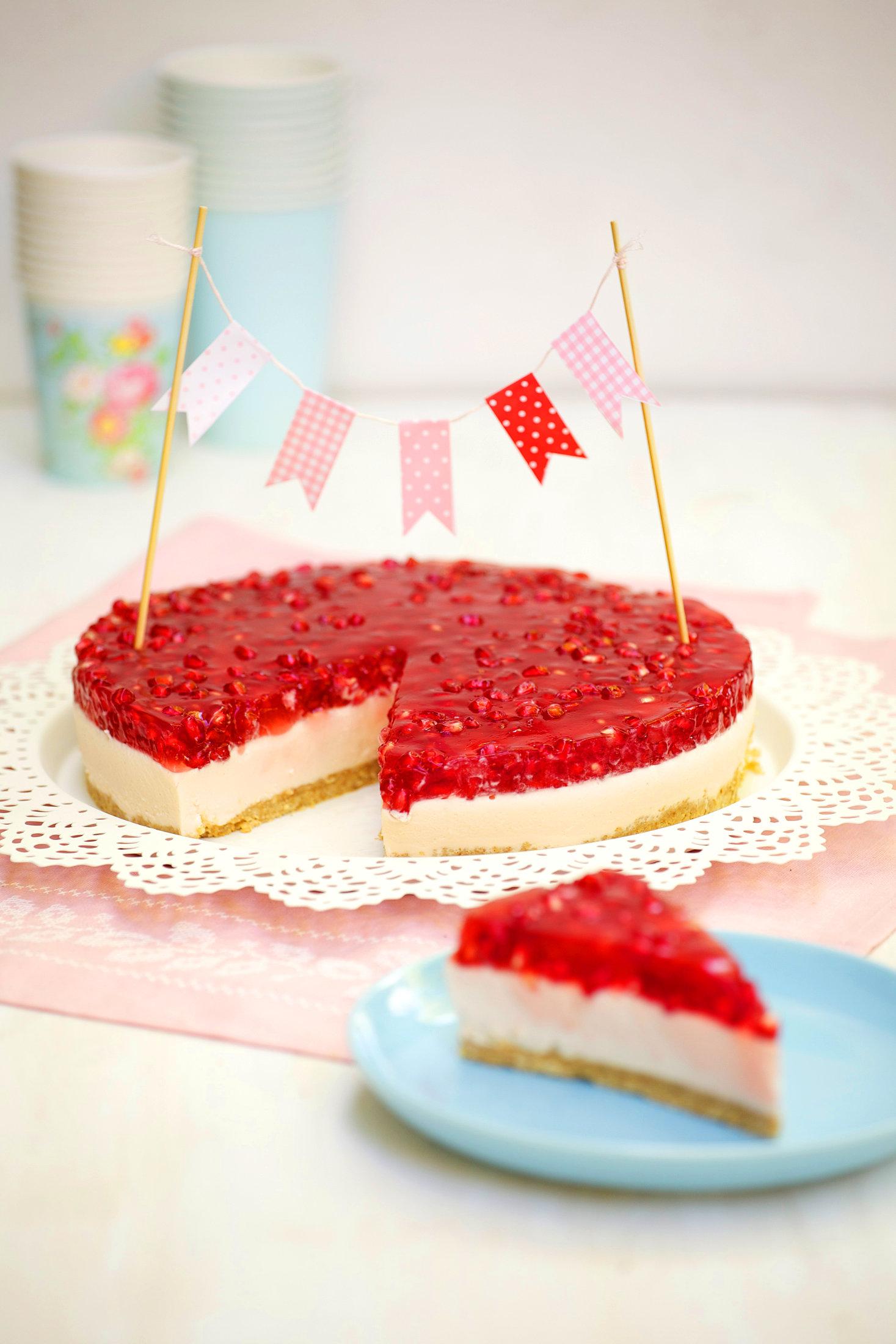 Granatapfel-Cheesecake
